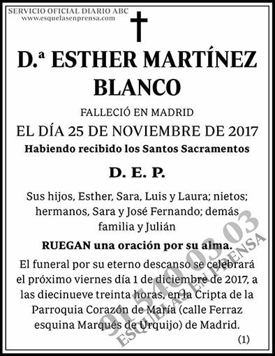 Esther Martínez Blanco